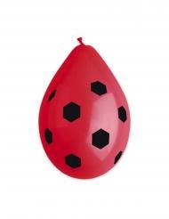 10 Latexballonger med röda fotbollar 30 cm