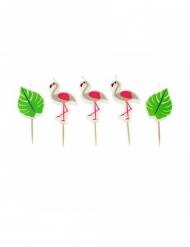 5 Flamingoljus 5,5 cm
