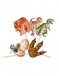 20 Dinosauriedekorationer 12,5 cm