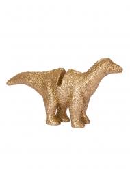 4 Bordsmarkörer guldig dinosaurie 9,5x5 cm