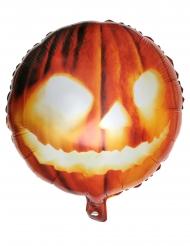 Aluminiumballong med pumpa-ansikte 35x18 cm