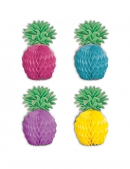 8 Ananas minidekorationer 12 cm