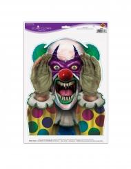 Klistermärke med läskig clown 30x43 cm