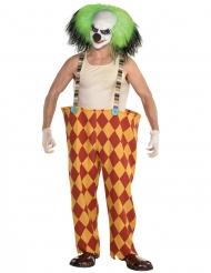 Läskig clowndräkt herr