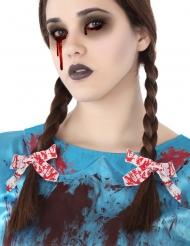 Blodiga vita rosetter för håret