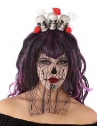 Halloweendiadem med dödskallar
