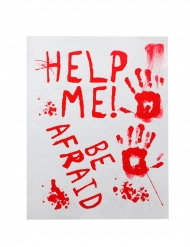 Blodig Affisch help me 42x19 cm