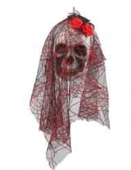 Hängande dödskalledekoration 15x30 cm