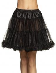 Knälång svart kjol