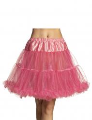 Knälång rosa kjol dam