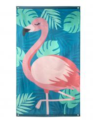 Tropisk flamingo baner 150x90 cm