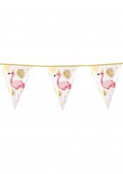 Girlang med 10 fanor tropisk flamingo 30x20 cm