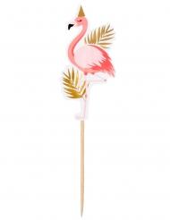 12 Cocktailpinnar med tropisk flamingo 13 cm