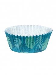 50 Muffinsformar tropiskt blått 6,5 cm