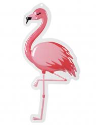Rosa flamingo väggdekoration av plast 50x30 cm