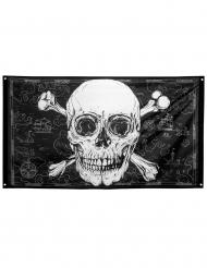 Jolly Roger sjörövarflagga 90x150 cm