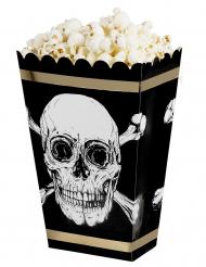 4 Jolly Roger popcornlådor med sjörövarmotiv