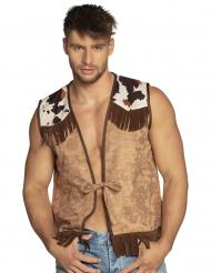 Ljusbrun cowboyväst herr