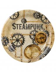 6 Steampunk-papptallrikar 23 cm
