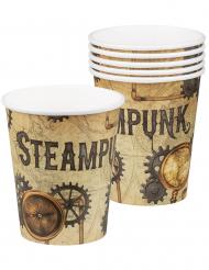 6 Steampunk pappmuggar 25 cl