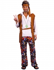 Brunvit hippiedräkt större herrstorlek