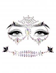 Färgglada självhäftande ansiktssmycken