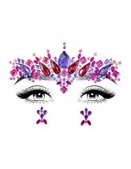 Lilarosa ansiktssmycken