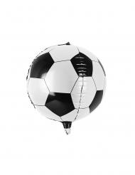 Aluminiumballong med fotbollsmönster 40 cm
