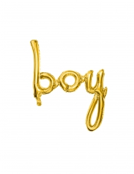 Boy guldfärgad aluminiumballong 63,5x74 cm
