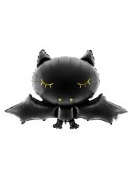 Aluminiumballong söt fladdermus 80x52 cm