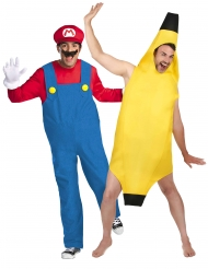 Mario™ och banan pardräkt vuxen