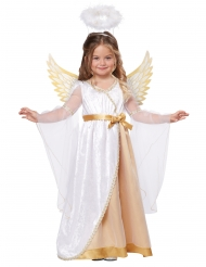 Guldfärgad ängladräkt barn