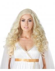 Lyxig lång blond peruk dam