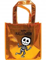 Guldglittrig presentpåse med skelett