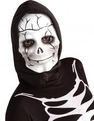 Skelettmask med huva barn
