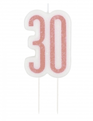 Tårtljus födelsedag 30 år 7 cm