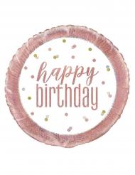 Vitrosa aluminiumballong happy birthday 45 cm