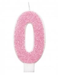 Siffra glittrigt rosa födelsedagsljus 7 cm