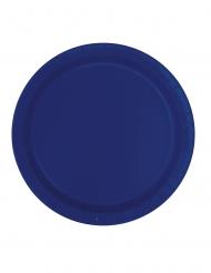 16 mörkblå papptallrikar 23 cm