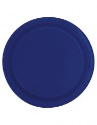 20 Små mörkblå tallrikar 18 cm