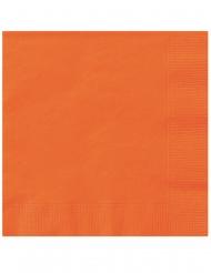 20 Små orangea servetter 25x25 cm