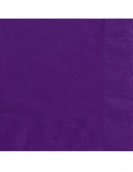 20 lila pappersservetter 25x25 cm