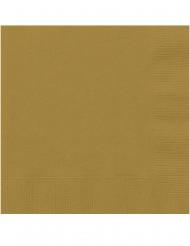 20 Guldfärgade små servetter 25x25 cm