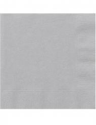 20 Silvergrå pappersservetter 25x25 cm