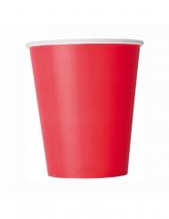 8 Röda pappmuggar 266 ml