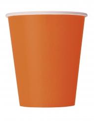 14 orangefärgade pappmuggar 266 ml