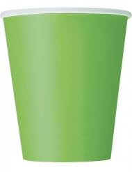 8 Gröna pappmuggar 266 ml