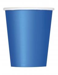 8 Blå pappmuggar 266 ml