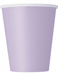 8 Lavendelfärgade pappmuggar 266 ml