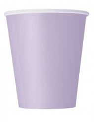 14 Lavendelrosa pappmuggar 266 ml